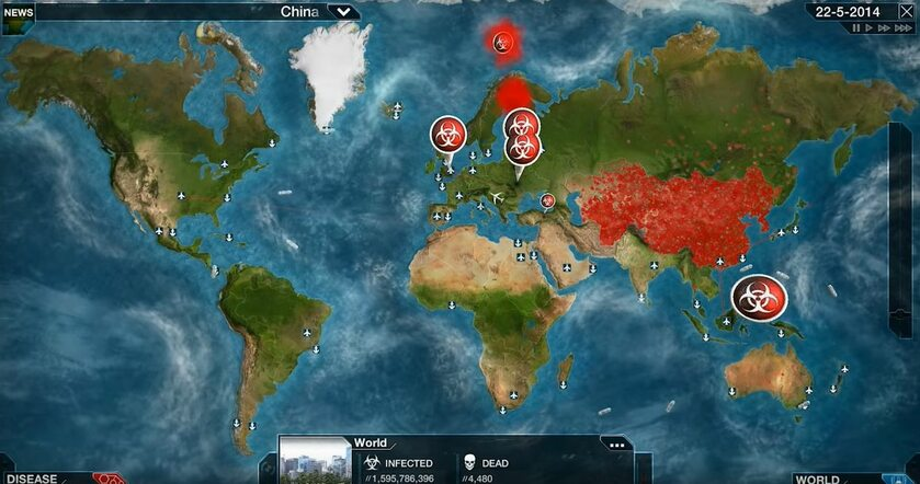 Screen z gry Plague Inc.